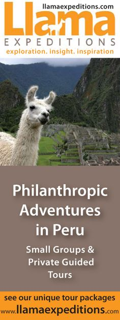 Ever dream of riding a llama on your way to Machu Picchu? Travel to Peru with @LlamaExpeditions! We love their cute mascot, don't you? Design by www.switchblade-studios.com
