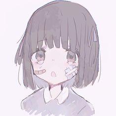 Loli Kawaii, Kawaii Anime Girl, Anime Art Girl, Manga Girl, Anime Chibi, Sad Anime, Kawaii Drawings, Cute Drawings, Anime Style