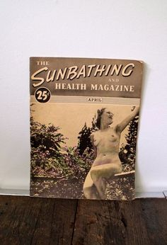 Vintage 1940's The SUNBATHING and HEALTH  by RevivalVintageStudio, $21.00