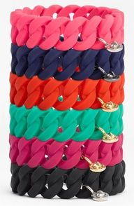 Rubber bracelets from Marc Jacobs, wear them on the beach..