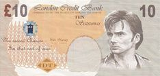 Print out your very own Doctor Who banknotes bearing David Tennant's confused face.  (not legal tender, obvs.)  ;)