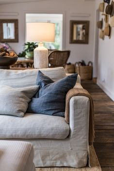 My Favourite Paint Brand And Why You've Probably Never Heard Of It Linen Couch, Couch With Chaise, Washable Sofa Covers, Couch Slip Covers, Living Room Sofa, Living Spaces, Living Rooms, How To Make Sofa, Paint Your House