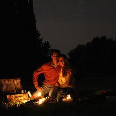 Romantic picnic surprise And star gazing