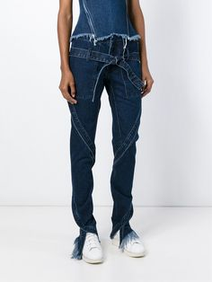 Marques Almeida AW15 Runway Indigo Strappy Slim Slash Denim Frayed Jeans 6 8 in Clothes, Shoes & Accessories, Women's Clothing, Jeans | eBay