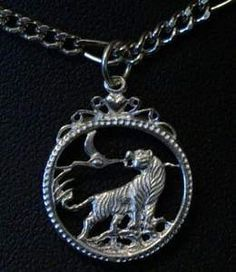 celtic tiger pendant charm silver gothic jewelry Real Sterling silver 925 pendant Charm jewelryLike this item find it at https://www.etsy.com/shop/princeofdiamonds