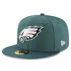 Philadelphia Eagles New Era 2016 Sideline Official 59FIFTY Fitted Hat -  Green 76d76db18460