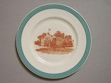 "Missouri Kansas & Texas RR Big Green ""Alamo"" Railroad China Plate"