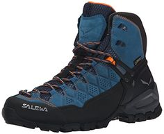 Salewa Womens Alp Trainer Mid GTX Boots Washed Denim  Carrot 65  Cap Bundle * Be sure to check out this awesome product.