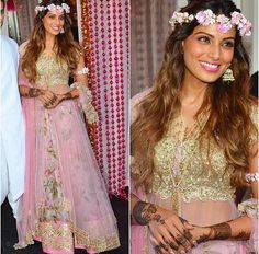 Bipasha Basu wearing Anushree Reddy on her wedding