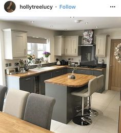 Modern Island Kitchen with shiny beadboard ceilings and also luxurious insides. Kitchen island is a desire for everyone, are you one of them. obtain ideas for your dream kitchen area island such as this photo  #smallkitchenisland#portablekitchenisland#kitchenisland