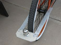 How to make a trailer-ball hookup for a bike.