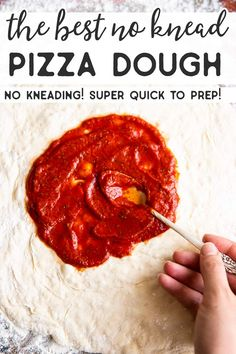 This is the BEST Easy Homemade Pizza Dough – No Kneading Required! No Knead Pizza Dough, Best Pizza Dough, Pizza Pizza, Crispy Oven Fried Chicken, Baked Chicken Nuggets, Easy Family Meals, Easy Meals, Making Homemade Pizza, Fries In The Oven