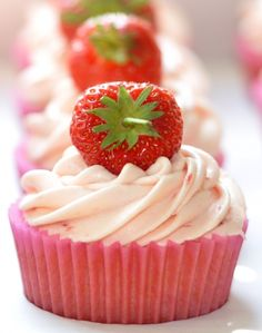 I want Strawberry Cupcakes for my birthday!