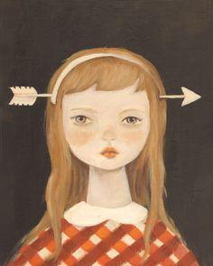 Arrow Head painting. I like her sombre-ness
