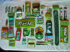 Missionary package ideas. From Marci Coombs Blog-package of green stuff for a greenie