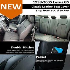 Luxury Cars: Clazzio Custom Perfect Fit Leather Seat Cover Black98-05 Lexus Gs… Lexus Gs, Leather Seat Covers, Fit Car, Rolls Royce, Buick, Aston Martin, Volvo, Cadillac, Luxury Cars