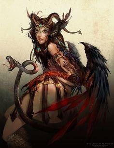 Female character.