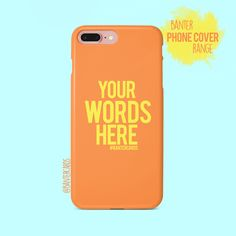 Our phone covers may just be our favourite product! We make high quality, hard-wearing plastic phone cases with a choice of 3 different finishes to suit your needs - Gloss, Matte or for an extra layer of protection 'tough' Laptop Covers, Laptop Case, Customised Gifts, Make Your Own, How To Make, True Feelings, Best Phone, Gifts For Him, Best Gifts