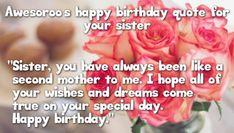 200 birthday wishes for sister birthday wishes for sister hy birthday wishes and quotes for 50 sister quotes about sistersBirthday Happy Birthday Sister Status, Birthday Greetings For Sister, Birthday Messages For Sister, Birthday Wishes For Wife, Message For Sister, Funny Happy Birthday Wishes, Sister Birthday Quotes, Birthday Wishes Quotes, Inspirational Birthday Message