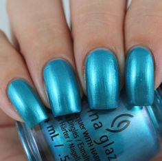 China Glaze Don't Teal My Vibe swatched by Olivia Jade Nails