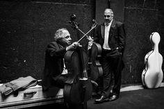 Irmãos Santoro nos bastidores da Cidade das Artes. Foto: Cicero Rodrigues  OSB - Orquestra Sinfônica Brasileira