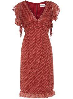 Red vintage floaty dress