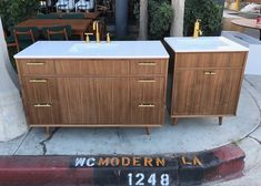 "60"" Hand Crafted Walnut ""Streamline"" Vanity"