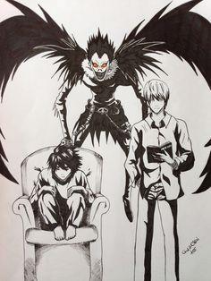 Death Note - L, Light e Ryuk