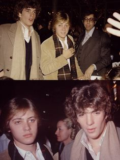 John Kennedy Jr. and James Spader. Friends that attended the same prepschool together. Both so young & handsome!