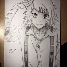 My drawing of Suzuya Juuzou, Tokyo Ghoul He's such a cutie! Hope you like it! Thank you for all your follows and comments, that means a lot All done in pencil.
