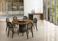 Esstisch Design Rund Glas Kuhfell Teppich | Esstische | Pinterest ... Esszimmer Elegant Und Modernbilder Galerie
