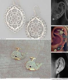 Piercings & these earrings