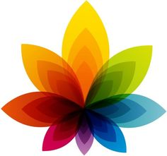 colorful flower abstract background