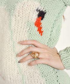 Mint Swan Sweater