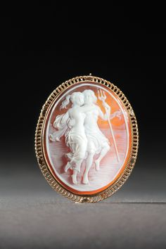 Cameo pendant-brooch, remind anyone else of your grandmother? Love it!