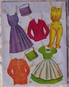 Debbie Reynolds Paper Dolls 1962 Pre Cut Anvendes ikke | eBay