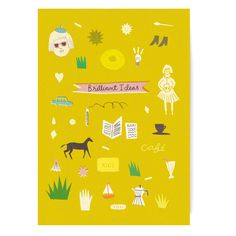 Brilliant Ideas Notebook by The Printed Peanut #stationery #illustration