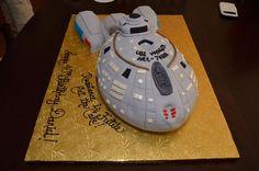 Jeri Ryan's USS Voyager Birthday Cake.