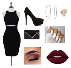 Girls Night by lilyannfrancis on Polyvore featuring polyvore, fashion, style, Elizabeth and James, Nly Shoes, Bling Jewelry and clothing