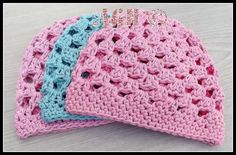 7 Free #Crochet Patterns on @beCraftsy - granny crochet baby hat by AG Handmades