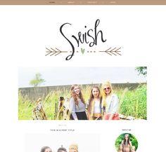 "Blog Template for Blogger ""Swish"" Blog Layout / Simple Blog Theme / Instant Download / Modern Blog Design"