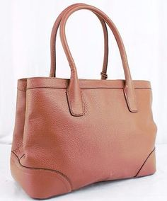 LAUREN RALPH LAUREN FAIRFIELD CITY SHOPPER BOURBON LEATHER AUTHENTIC $328 RETAIL