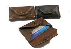 Single Pocket Business Card Wallet Leather Business Card Holder Handmade Card…