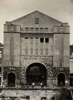 Art Deco facade of Rembrandt Theater in Utrecht,   1920.