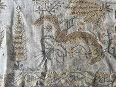 """Antique Ottoman Turkish Silk & Metallic Densely Embroidered Towel Yaglik 56 1/2"""" FOR SALE • $250.00 • See Photos! Money Back Guarantee. Stunning antique 19th c Turkish Ottoman yaglik towel. Measures 56 1/2"""" by 19 1/2"""". Dense hand embroidery in a beautiful pattern with trees, feathers, bows and more. Silk and metallic 232206679579"""