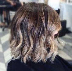 This is probably what I'll end up with on my short layered hair. Like the way the colors blend, but this is too brassy/gold for me. I want this with ashy/beige color.