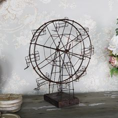 Rustic Wire Metal Ornamental Ferris Wheel