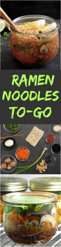 This instant noodle upgrade will save you from lunch fatigue: healthy ramen packed in a mason jar with fresh veggies, Asian-style broth, and a hard-boiled egg.