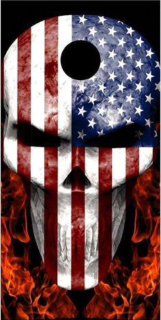american flag skull fire flame cornhole game decal wrap - Cornhole Board Wraps