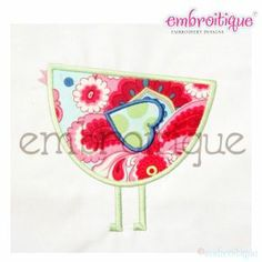 All Other Spring - Little Birdie Mod Applique on sale now at Embroitique!